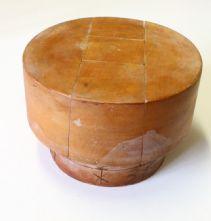Milliner's 1960's Orbit Style Flat Pill Box 5 Piece Puzzle Hat Block